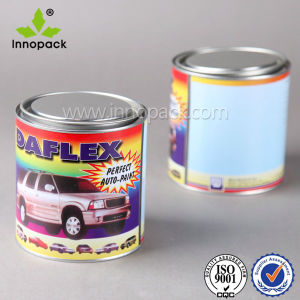 1 Liter Metal Tin Can for Aerosol with Lid and Plastic Handle pictures & photos