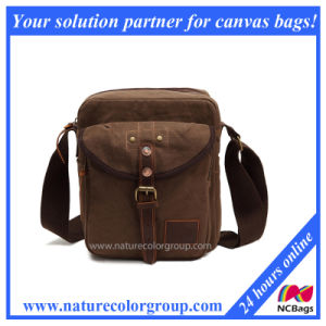 Canvas Messenger Shoulder Satchel Bag with Real Leather (MSB-017) pictures & photos