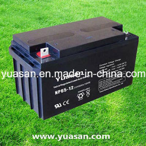 Yuasan Super VRLA AGM Rechargeable Battery with Top Quality Warranty --Np65-12 (12V65AH)