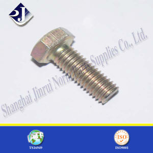 Yellow Zinc Finished Hex Bolt pictures & photos