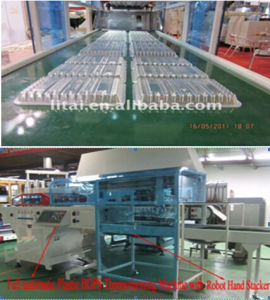 Full-Automatic Plastic Thermoforming & Stacking Machine pictures & photos