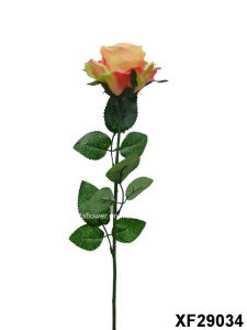 Artificial/Plastic/Silk Flower Single Stem of Rose (XF29034) pictures & photos