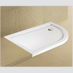 Flat Corner Shower Base Offset Corner Shower Tray pictures & photos