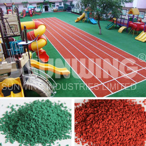 Colored EPDM Granule Rubber for Kindergarten Surface pictures & photos