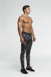 Compression Running Bodybuilding Skin Tights Sport Fitness Gym Pants (AK2015013) pictures & photos