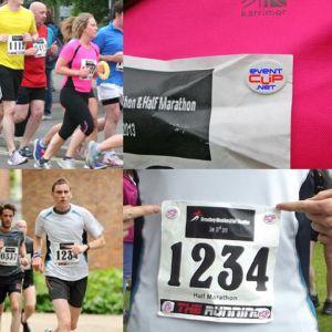 1-10000 Paper Marathon Brand Running Race Tyvek Bib Numbers pictures & photos