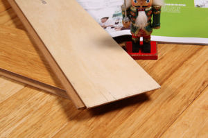 Natural Brushed Engineer Bamboo Flooring HDF Core pictures & photos