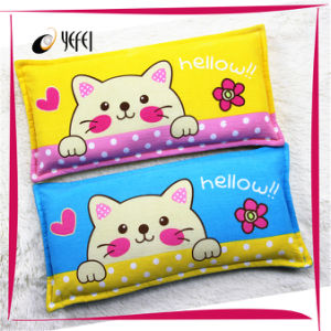 Cute Cat Printed Latex Memory Foam Travel Pillow