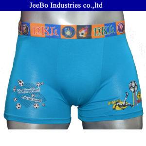 Fashion Style Blue Modal Football Printed Men′s Boxer Short