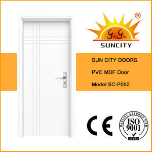 Economic Sample Design White PVC MDF Doors (SC-P052) pictures & photos