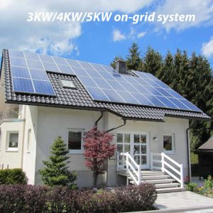 PV 3kw/4kw/5kw Solar on Grid Roof System pictures & photos