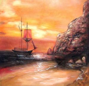 Cheap Latest Handmade Original Landscape Oil Painting (LH-325000) pictures & photos