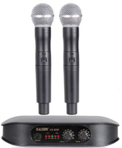 Ealsem Es-620 VHF 2 Double Channel Super Fidelity Wireless Microphone pictures & photos