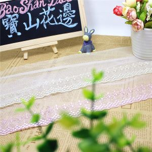 Factory Stock Wholesale 11cm Width Embroidery Net Lace Polyester Embroidery Trimming Fancy Mesh Lace for Garments Accessory & Home Textiles & Curtain Decoration pictures & photos