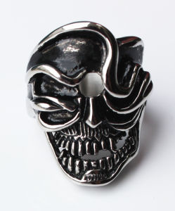 Men′s Skull Ring Punk Style Stainless Steel Ring for Men pictures & photos