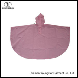 New Style Lightweight Pink Color PVC Rain Poncho for Kids pictures & photos