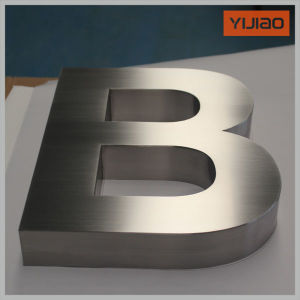 304 Stainless Steel Channel Letter Customized Finishing Brass Brushed Vitage pictures & photos