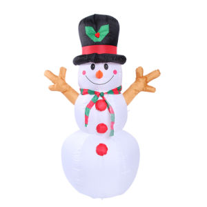 190t Fabric Inflatable Snowman for Holiday Decoration pictures & photos