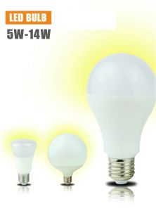 12W E27 B22 Big Degree Aluminum PBT Plastic LED Bulb pictures & photos