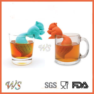 Ws-If058 Food Grade Silicone Squirrel Tea Infuser Set Leaf Strainer for Mug Cup, Tea Pot pictures & photos