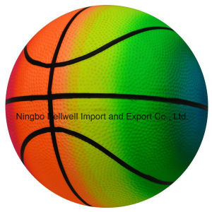 6 Inch Rainbow Color Durable Bouncy Basketball Sports pictures & photos