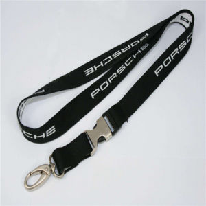 Customized Company Flat Woven Lanyard pictures & photos