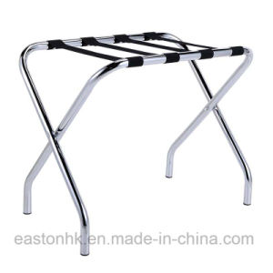 Easy Fold-up Hotel Strong Metal Luggage Rack with Backrest pictures & photos