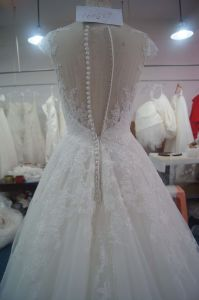 Beautiful Noble Beading Mermaid Bridal Dress with Round Neckline pictures & photos