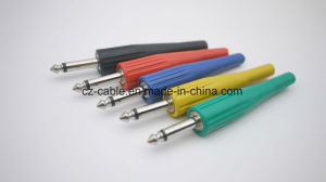 6.35mm Mono Plug, Metal Plug with Different Colors pictures & photos