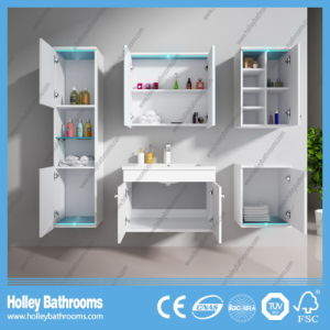 Hot LED Light Touch Switch High-Gloss Gorgeous Paint Bathroom Cabinet-D8066A pictures & photos