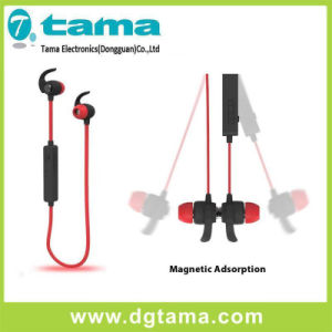 Dual-Ear Bluetooth Sports Headset with Metal Magnetic Earbud Head pictures & photos