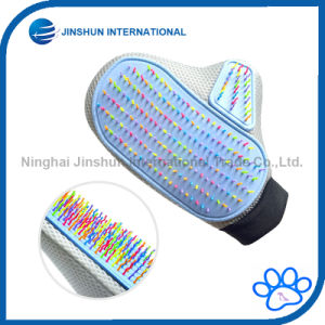 Pet Grooming Glove-Grooming Tool Brush Rainbow Colorful Tips for Massage for Dog & Cat (Right hand) pictures & photos