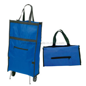 Promotional Grocery Shopping Tote Bag with Rolling Wheel pictures & photos