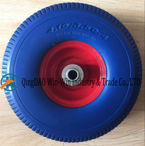 New PU Foam Wheel Used on Hand Trolley (4.10/3.50-4) pictures & photos