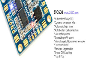 Matek Hubosd Eco X-Type Stosd8 Pdb Module Current Sensor 140A Dual Bec OSD Xt60 for Quadcopter pictures & photos
