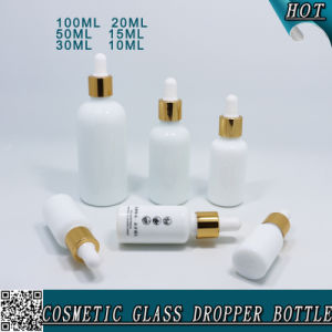 Opal White Boston Round Glass Essential Oil Bottle with Dropper pictures & photos