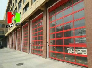 Automatic Sectional Transparent High Speed Security Shopfront Shopping Center Store Crystal Shutter Glass Door (Hz-FC047) pictures & photos