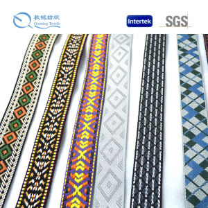 Factory Supply Fashionable Logo and Colour Customized Jacquard Webbing pictures & photos