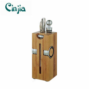 Wooden Shelf Zinc Alloy Wine Utensils Set pictures & photos