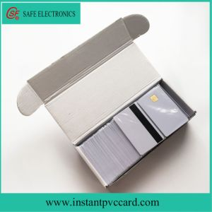 Inkjet Printable Blank PVC 4428 Chip Card with Hico Magnetic Stripe pictures & photos