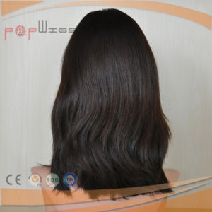 Short Length Virgin European Hair Black Color Full Lace Hand Tied Wig pictures & photos