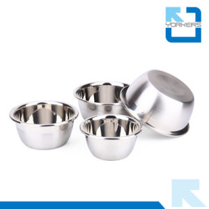 Multi-Size Stainless Steel Thickened Deep Salad Mixing Bowl Set pictures & photos
