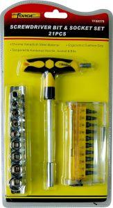 Hand Tools 21PCS Cr-V Steel Screwdriver Bit & Carbon Steel Socket Set pictures & photos
