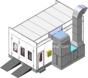 Car Spray Booth with Water and Active Carbon Filter System for Environmental Protection pictures & photos