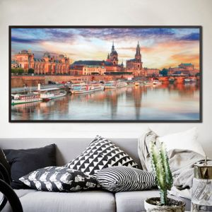 Modern Beautiful Coastal City Print Oil Painting pictures & photos