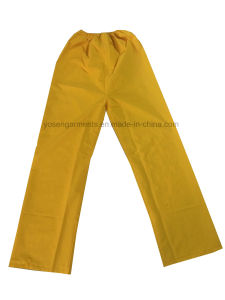 PVC/Polyester PVC Waterproof Outdoor Workwear Clothing Raincoat Rainsuit (RWB03) pictures & photos