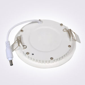 Slim 9W Round LED Panel Light 560lm Warm and Cool White pictures & photos