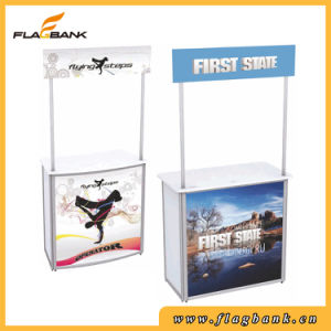 Economical and Portable Plastic Promotion Desk Promotion Table pictures & photos