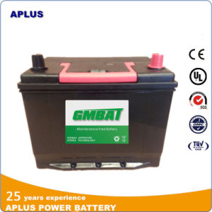Wet Charge Sealed Maintenance Free Lead Acid Battery 55D26L 12V60ah pictures & photos