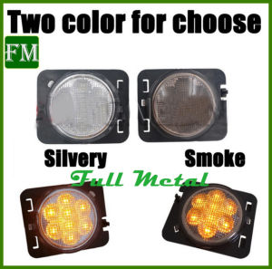 for Jeep Smoked LED Turn Signal Yellow Front Fender Wheel Side Light pictures & photos